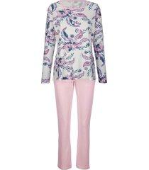 pyjama simone ecru::roze::blauw
