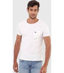 camiseta sergio k bolso off-white - off white - masculino - algodã£o - dafiti