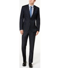 nick graham men's slim-fit stretch navy micro-dot suit