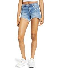 women's blanknyc grommet waist cutoff denim shorts