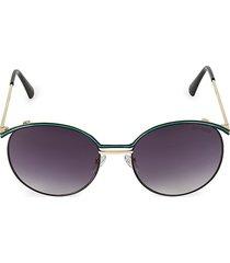 balmain women's 55mm aviator sunglasses - green