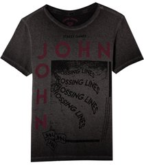 camiseta john john rg crossing lines malha algodão cinza masculina (cinza chumbo, gg)