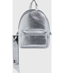 mochila ckj banner cp backpack 35 plateado calvin klein