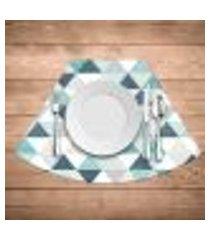 jogo americano para mesa redonda wevans green triangle kit com 4 pçs