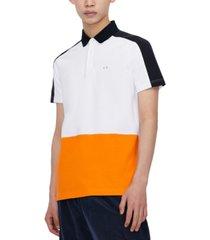 ax armani exchange men's slim-fit stretch polo shirt