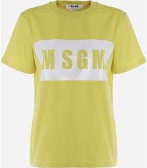 msgm cotton t-shirt with logo print