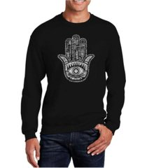 la pop art men's word art hamsa crewneck sweatshirt