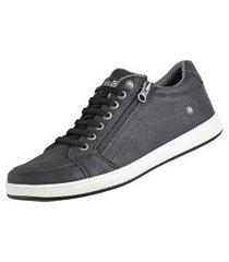 sapatênis cr shoes casual sapatofran com elástico e zíper leve lançamento preto