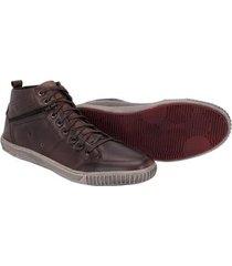 sapatênis cano alto couro tchwm shoes moderno masculino - masculino