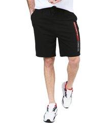 pantaloneta negro-rojo-blanco colore