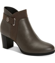 giani bernini memory foam artemyss booties, created for macy's women's shoes