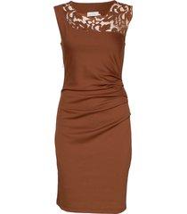 india vivi dress knälång klänning brun kaffe