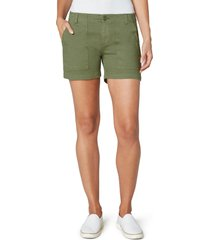 women's liverpool utility cotton blend shorts, size 6 - green