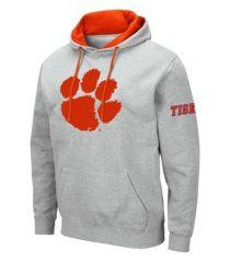 colosseum men's clemson tigers big logo hoodie