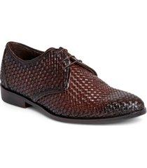 men's jazz derby lace-up leather dress casual shoe men's shoes