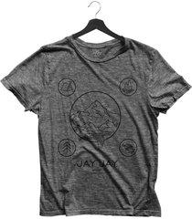 camiseta bã¡sica  jay jay wild camping chumbo dtg - cinza - feminino - algodã£o - dafiti