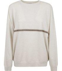 brunello cucinelli mid stripe sweater