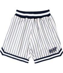 stadium goods striped mesh shorts - white