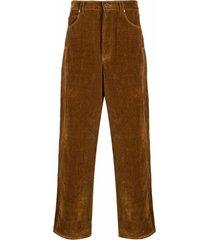 jacquemus straight-cut velvet-effect trousers
