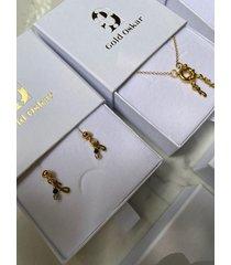 kolczyki little letters
