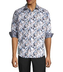 abrell layered print sport shirt
