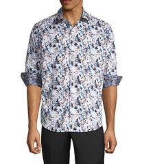 abrell layered print sport shirt