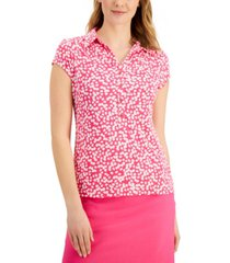 charter club ditsy-print polo shirt, created for macy's