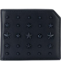 jimmy choo star studded wallet - blue