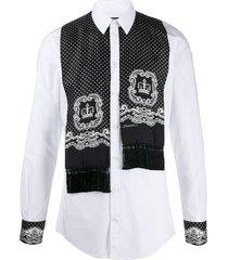 dolce & gabbana scarf detail shirt - white