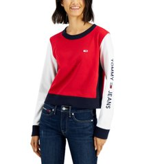 tommy jeans colorblocked pullover top