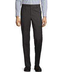 flat-front wool pants
