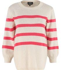 a.p.c. lizzy striped crew-neck sweater