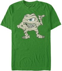 disney pixar men's monsters inc. mummy mike wazowski costume short sleeve t-shirt