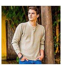 men's cotton sweater, 'maya gentleman' (guatemala)