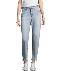 phoebe cropped distressed straight-leg jeans