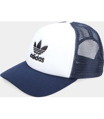gorra blanco-azul adidas originals trucker