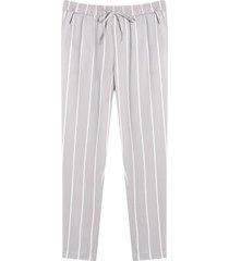 pantalón estampado a rayas con cordon