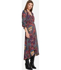 alix the label 204315612 ladies woven ethnic satin long dress