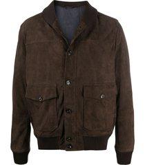 eleventy brushed nubuck jacket - brown