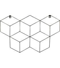 memory board cubo quadro de fotos preto - 45cm x 63cm 3 mini prendedores l3 store