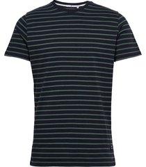 cotton t-shirt with large distance stripe t-shirts short-sleeved grön revolution