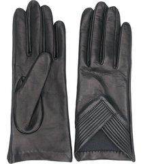manokhi short v-hem gloves - black