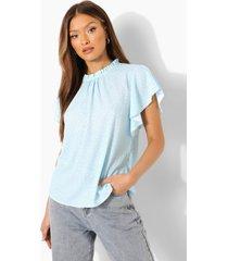 blouse met stippen en wijde mouwen, powder blue