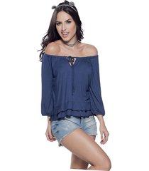 blusa azul atypical
