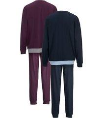pyjamas g gregory aubergine::marinblå