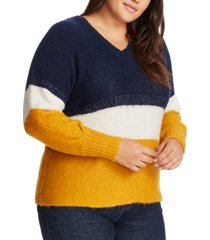 1.state trendy plus size colorblocked sweater