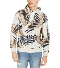 sun + stone men's leaf print hoodie, created for macy's