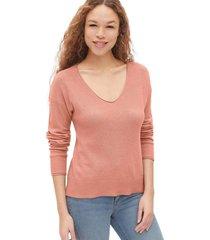 chaleco soft cuello v rosa gap