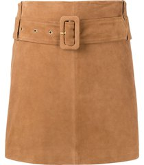 arma belted a-line skirt - brown