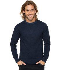 sweater azul tommy hilfiger texturedtwocolour c-nk reg-fit